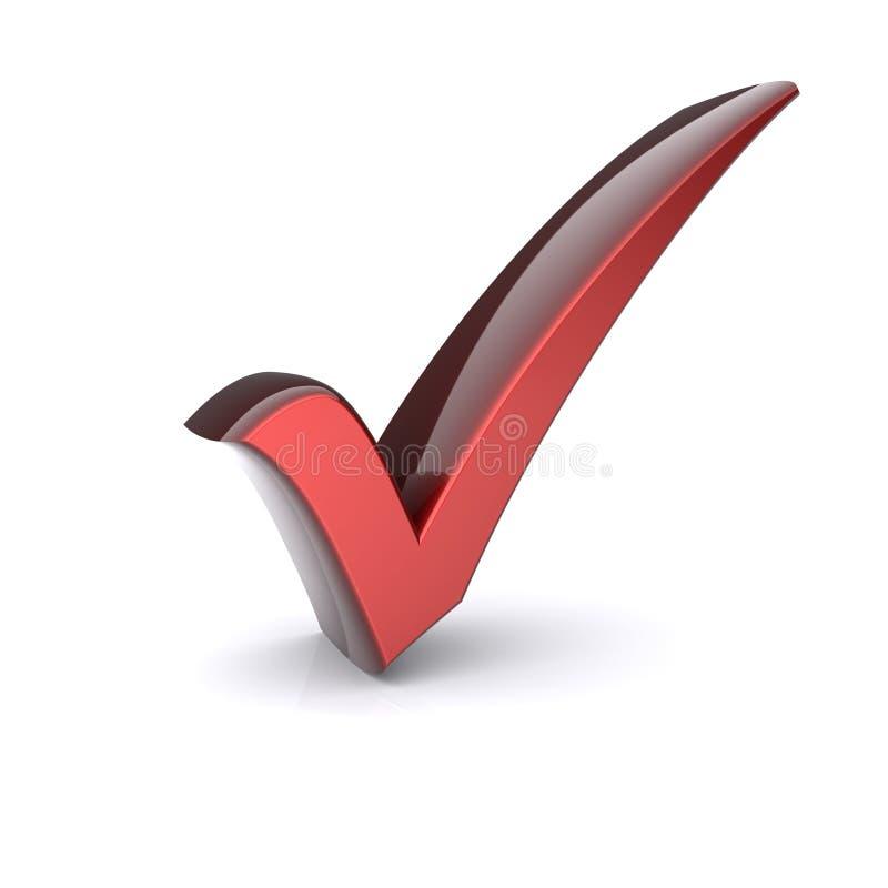 Rood vinkje stock illustratie