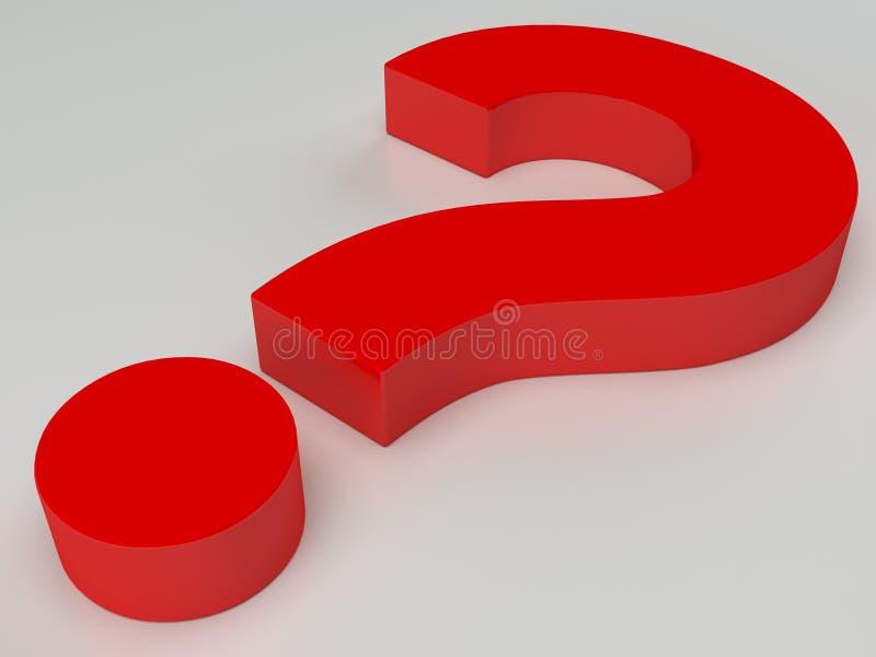 Rood vraagteken stock illustratie
