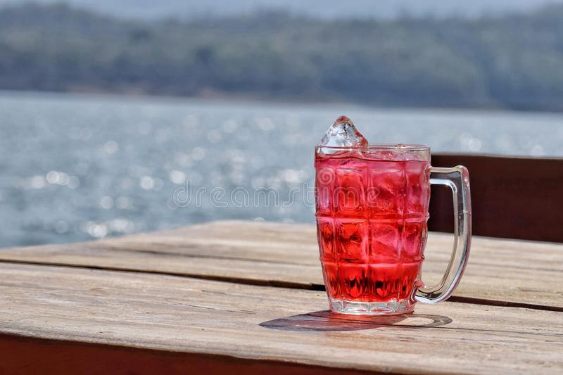Rood water stock foto's