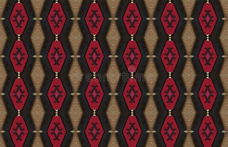 Rood Zwart Bruin Abstract Groot Patroonontwerp royalty-vrije illustratie