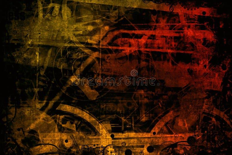 Roodbruine industriële machinesachtergrond royalty-vrije stock afbeelding