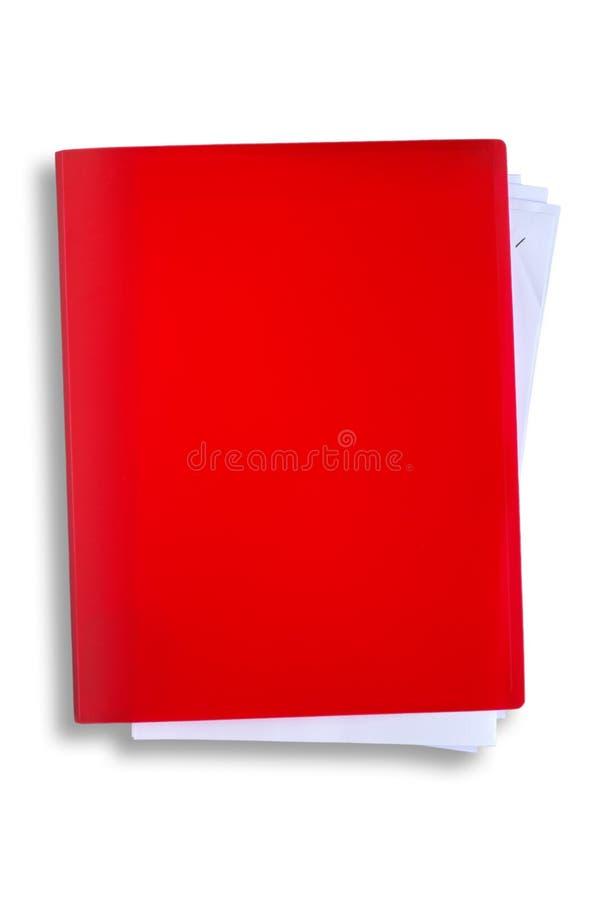Roodgloeiend dossier met het knippen van weg stock foto