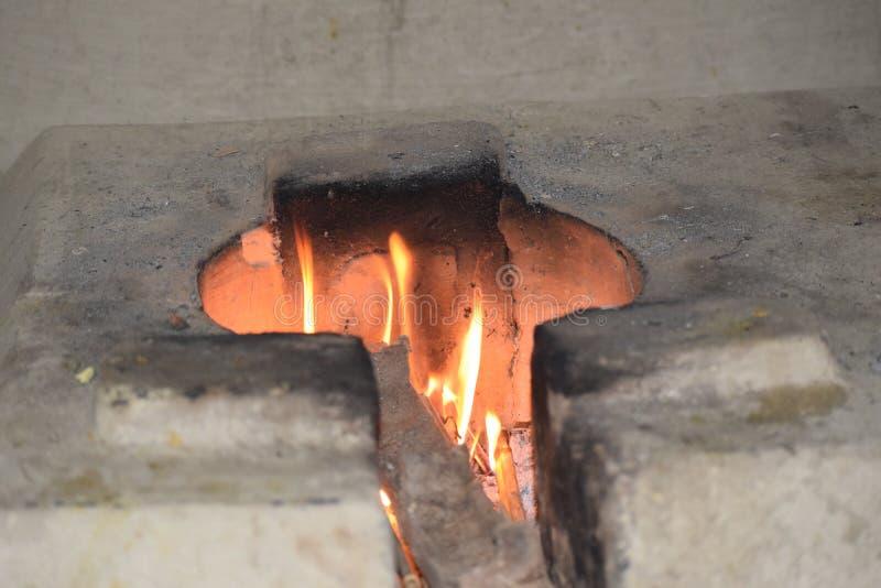 Roodgloeiende Brand stock fotografie