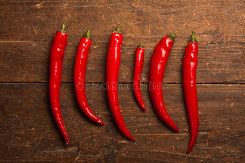 Roodgloeiende Spaanse peperpeper royalty-vrije stock foto's