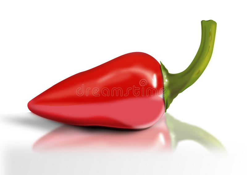 Roodgloeiende Spaanse pepers vector illustratie