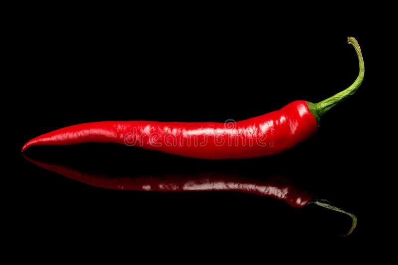 Roodgloeiende Spaanse peperspeper royalty-vrije stock afbeelding