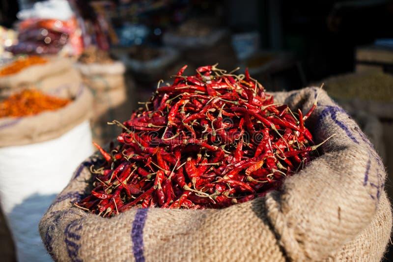 Roodgloeiende Spaanse peperspeper stock afbeeldingen