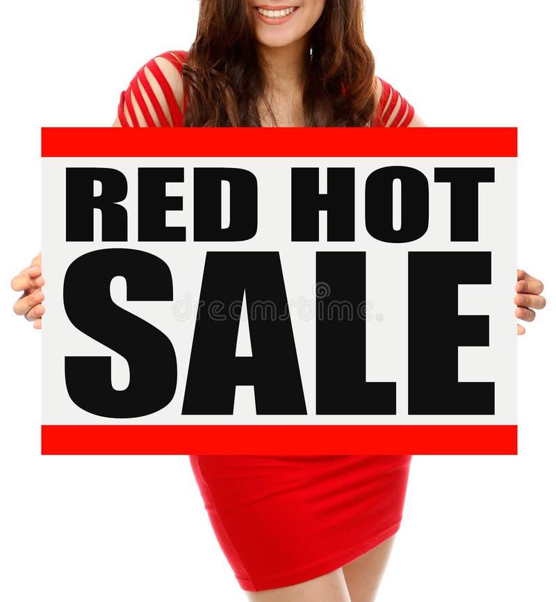 Roodgloeiende Verkoop royalty-vrije stock foto's