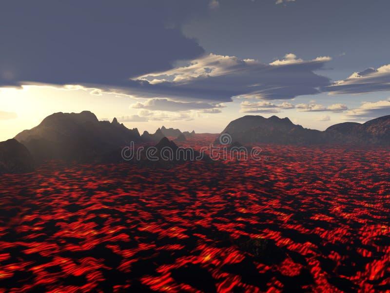 Roodgloeiende Woede stock illustratie
