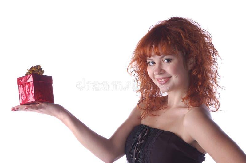 Roodharig mooi meisje royalty-vrije stock afbeelding