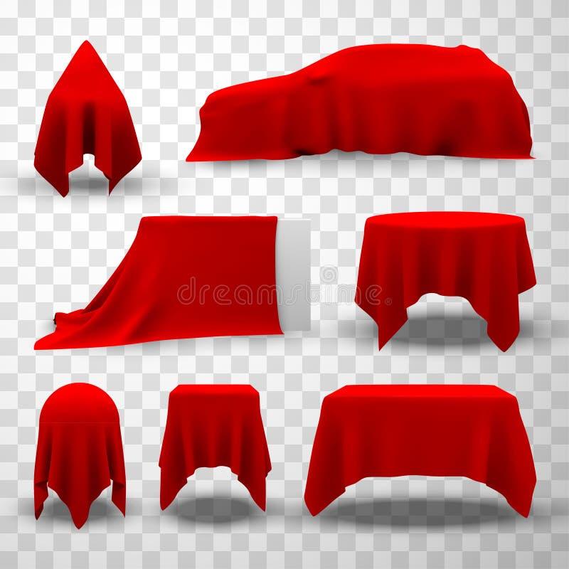 Roodzijde deksel, elegante verrassing voor luxe opening royalty-vrije stock afbeelding