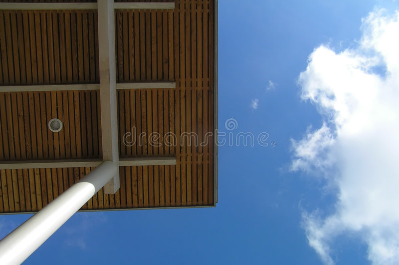 Download Roof stock image. Image of column, triangle, cloud, building - 165171
