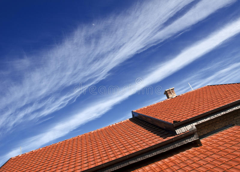 Download Roof stock image. Image of exterior, cover, colors, clouds - 23644019