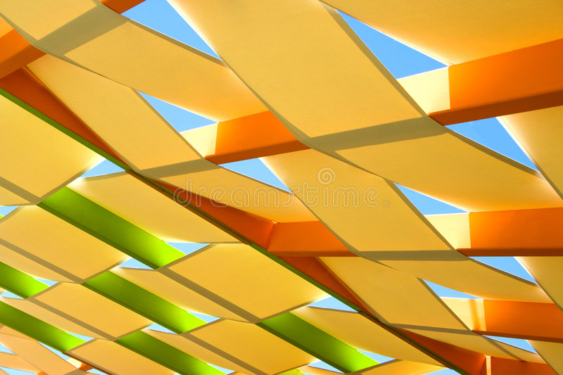 Roof abstract. Abstract view of a colorful roof stock image