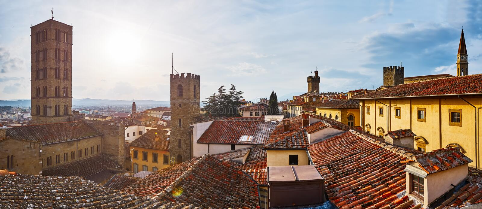 Roof of Arezzo royalty free stock photography