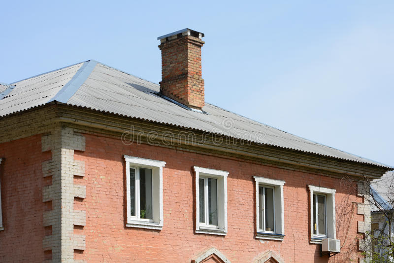 The roof is of asbestos roof slate. royalty free stock photography