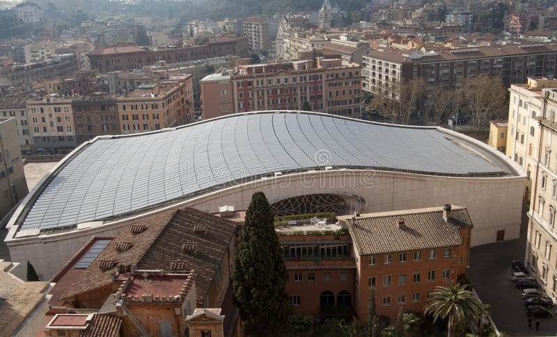 Roof Of The Audience Hall In Vatican City Stock Photography