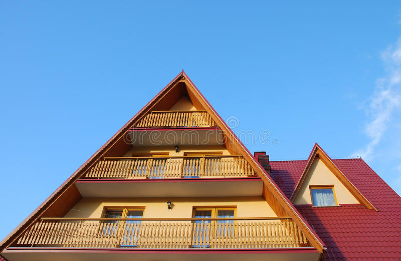 Roof and balcony