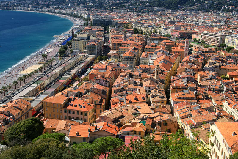 Download The Roof Of The Beach Of Nice Stock Photo - Image of view, beach: 28010162