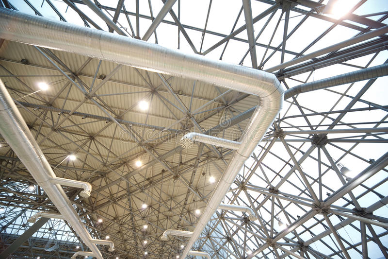 Download Roof Of Building From Inside Stock Photo - Image: 14059748
