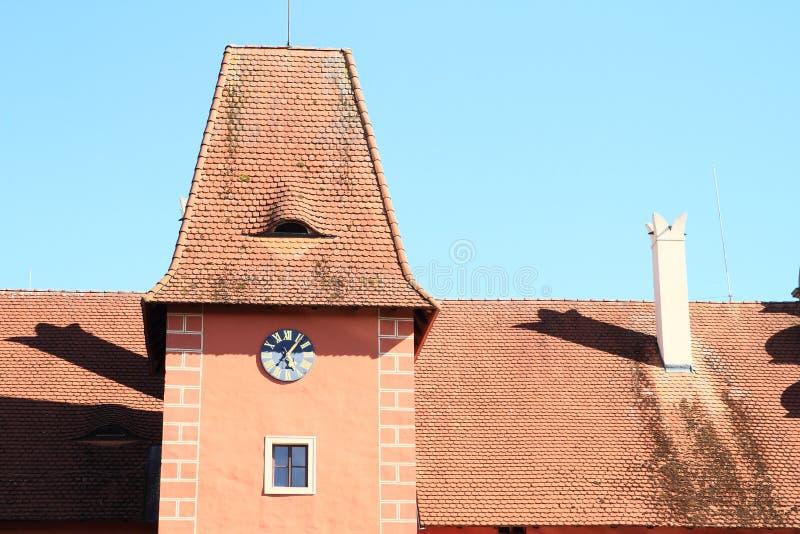 Roof of Castle Cervena Lhota stock photo