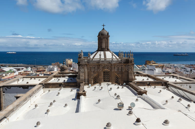 The roof of Cathedral of Santa Ana. Las Palmas de Gran Canaria. The Canary Islands. Spain stock images