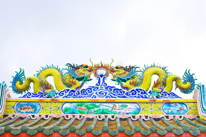 Roof By China S Style,Chinese Shrine Stock Images