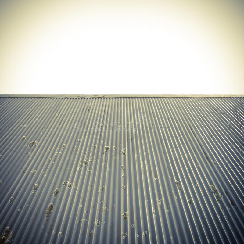 Roof and clear sky abstract background. Metal roof and clear sky abstract background with copy space for text stock photos