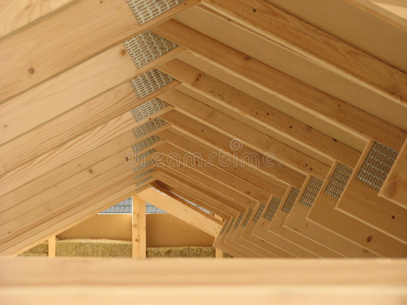 Roof Construction Wooden House Framework royalty free stock photography