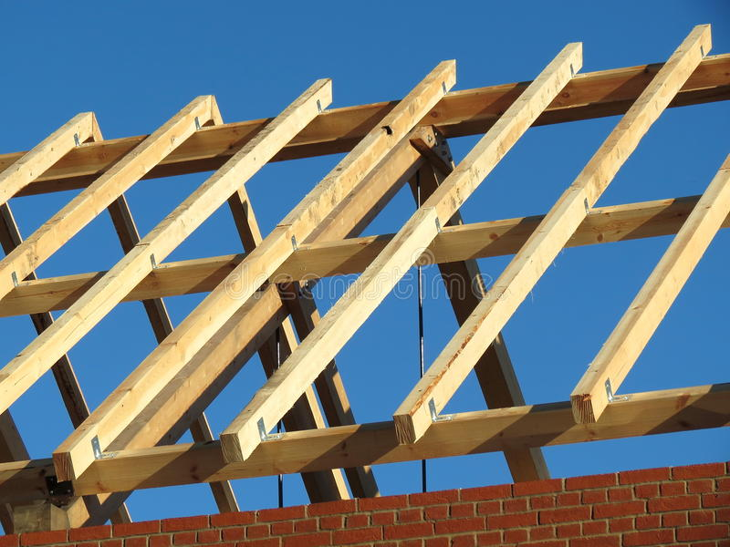 Download Roof construction stock photo. Image of logs, construction - 31943812