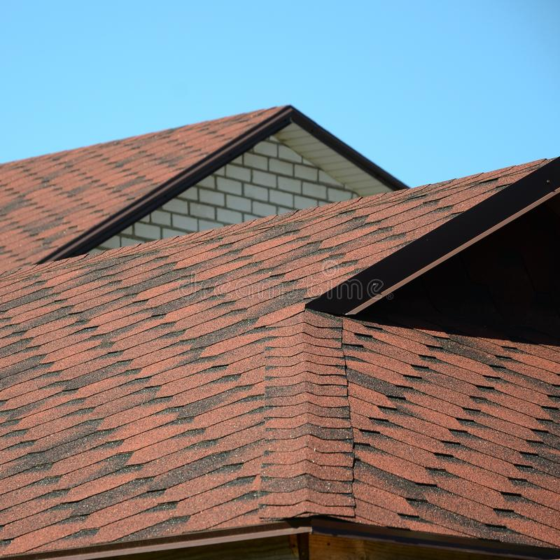 The Roof Is Covered With Bituminous Shingles Of Brown ...