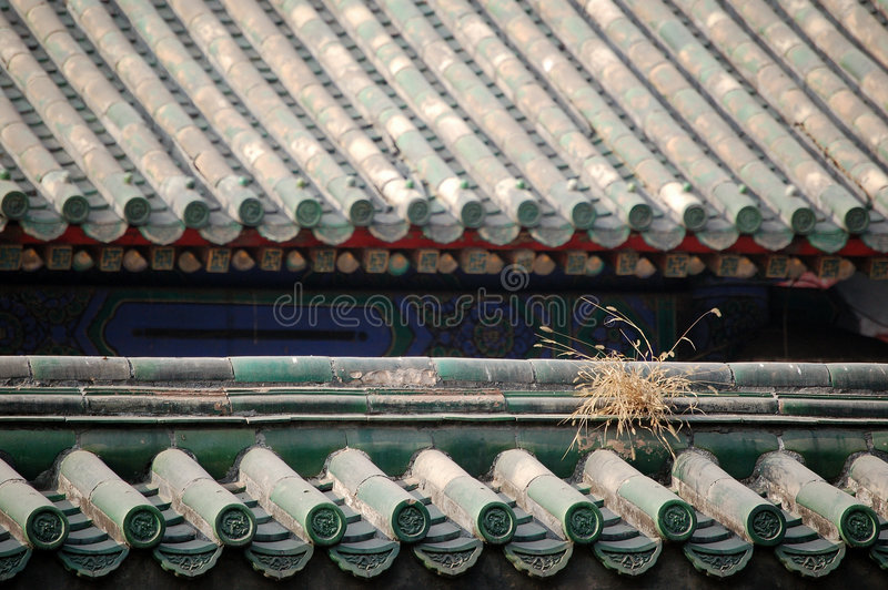 Download Roof Covered With Glazed Tiles Royalty Free Stock Photos - Image: 3399088