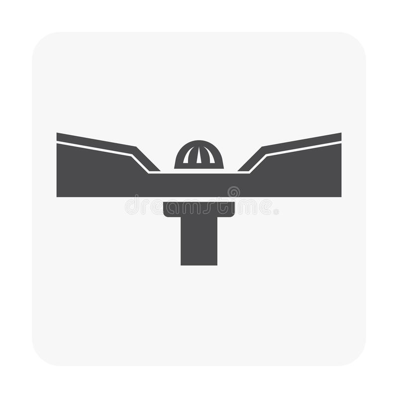 Roof deck icon. Roof deck and drainage equipment icon on white stock illustration