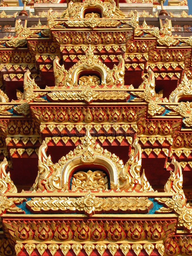 Free Roof Detail At Wat Chalong, Phuket, Thailand Royalty Free Stock Photography - 644357