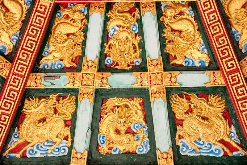 Download The Roof Is A Dragon Pattern Stock Image - Image: 28856099