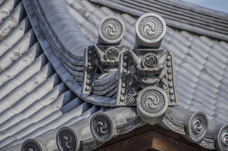 Roof Element The Sanjuusangendo Temple At Kyoto Japan. Roof Element At The Sanjuugendoo Temple At Kyoto Japan 2015 royalty free stock images