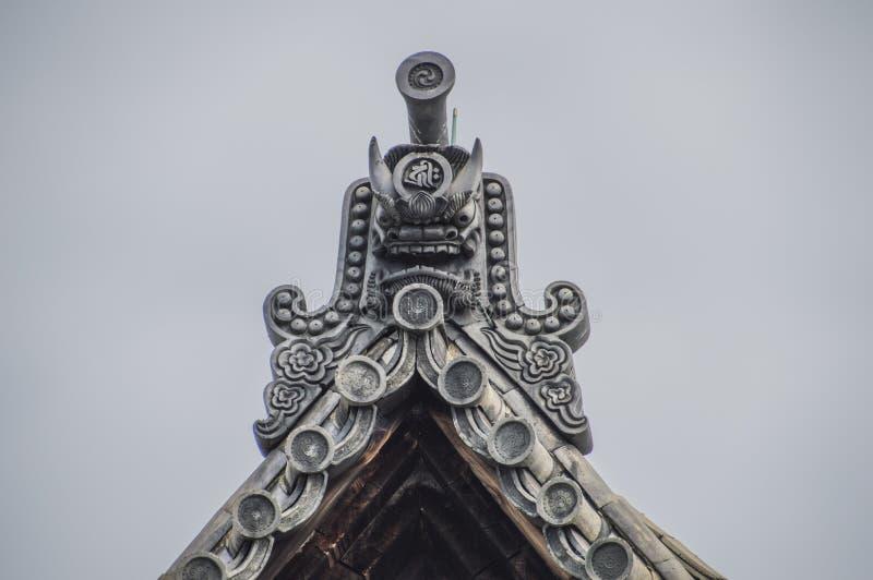 Roof Element The Sanjuusangendo Temple At Kyoto Japan. Roof Element At The Sanjuugendoo Temple At Kyoto Japan 2015 stock photography