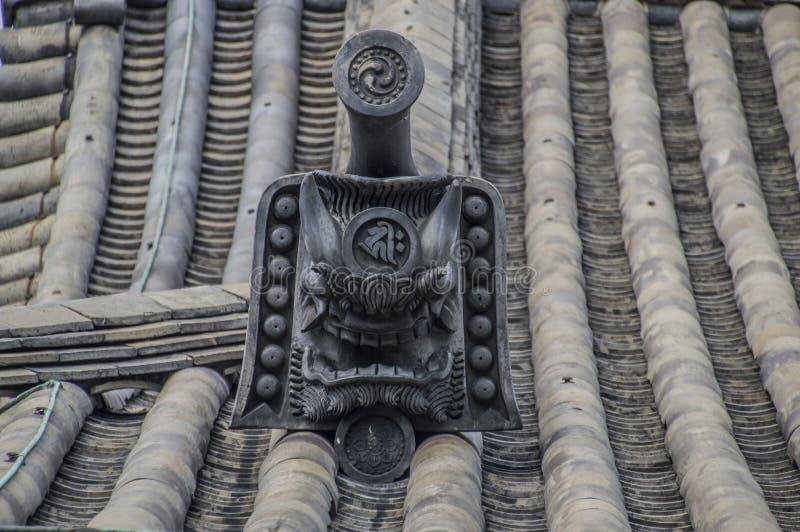 Roof Element The Sanjuusangendo Temple At Kyoto Japan. Roof Element At The Sanjuugendoo Temple At Kyoto Japan 2015 stock photo