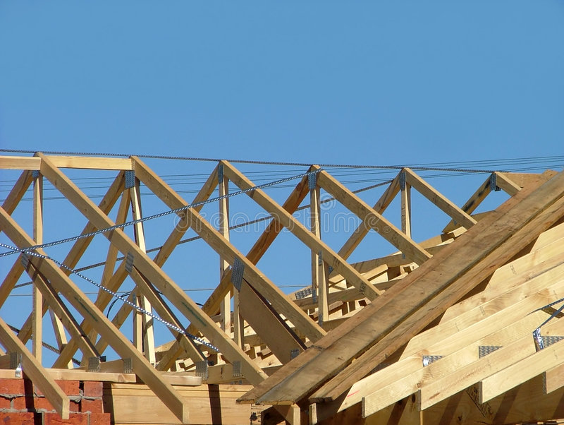 Roof frame stock photo