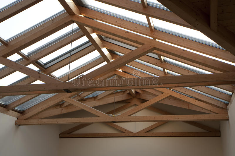 Roof frame royalty free stock images
