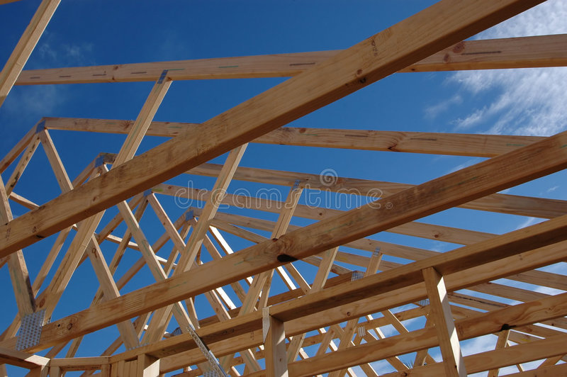 Download Roof frame stock photo. Image of cabin, roof, eave, lodge - 1544774