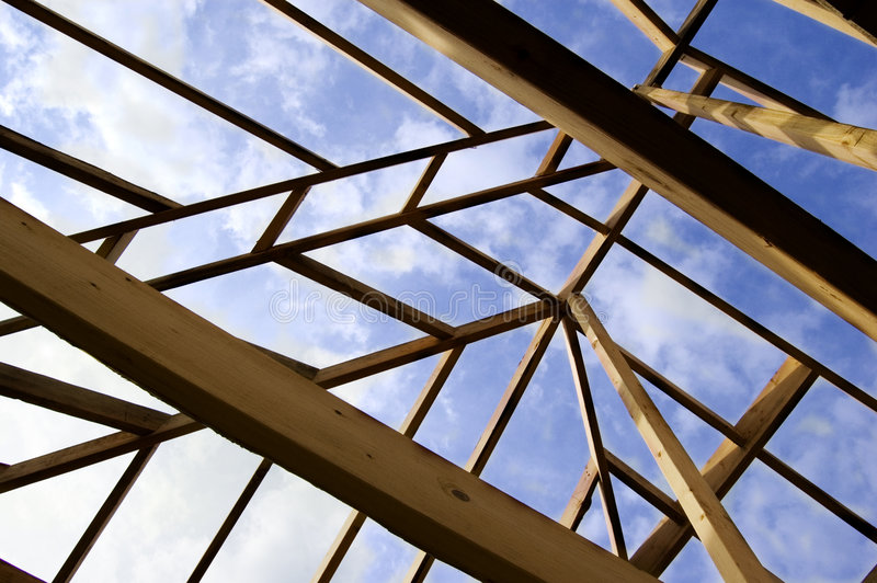 Roof Framing Home Construction stock images