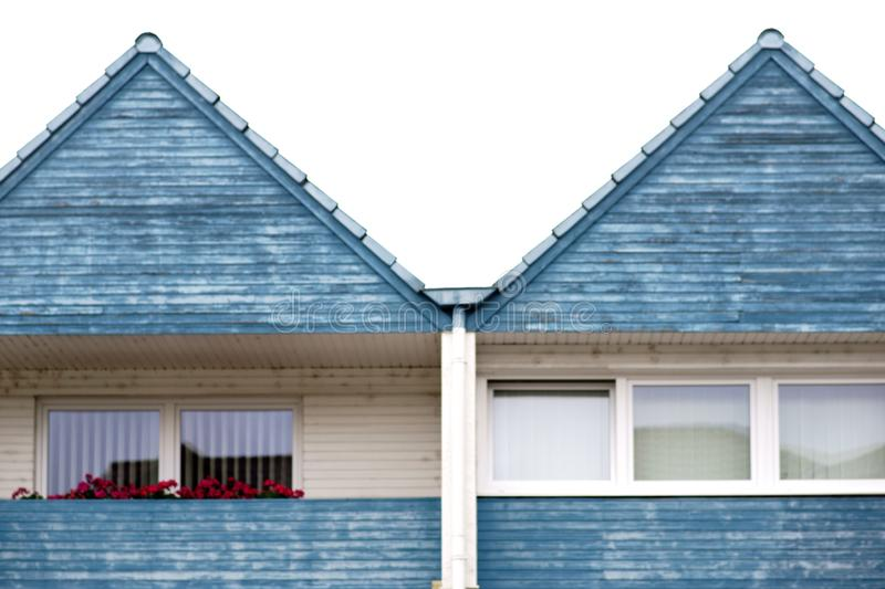 The roof gable of a terraced house royalty free stock photography