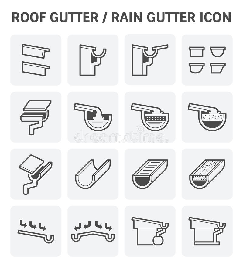 Download Roof Gutter Icon Stock Vector   Image: 83569449