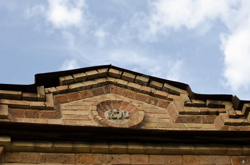 Roof on a historical building royalty free stock photo