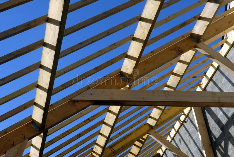 Detail of a wooden frame royalty free stock image