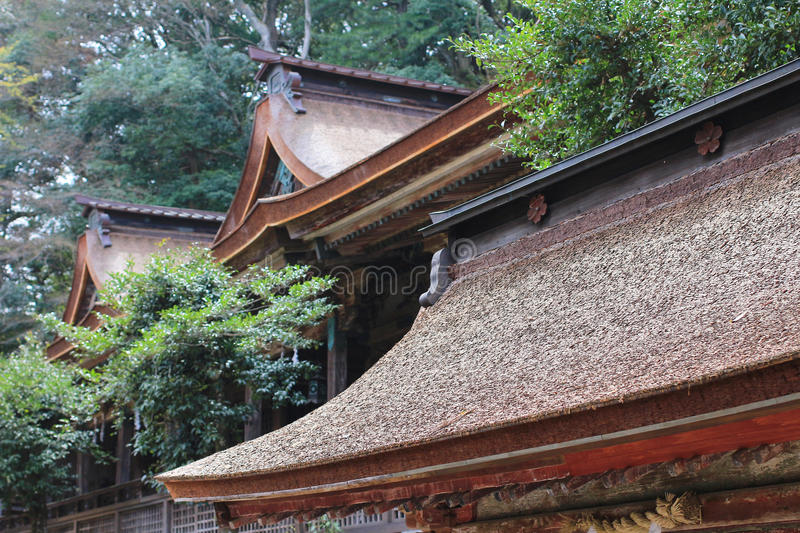 Roof Japan temple. The Japan temple Roof at nara stock photos