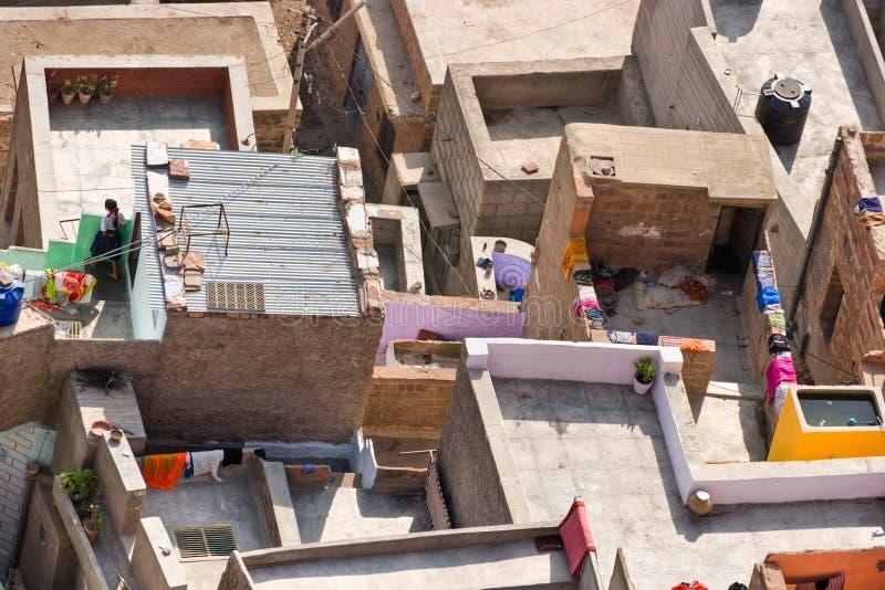 Roof of Jodhpur, the blue city. royalty free stock photo