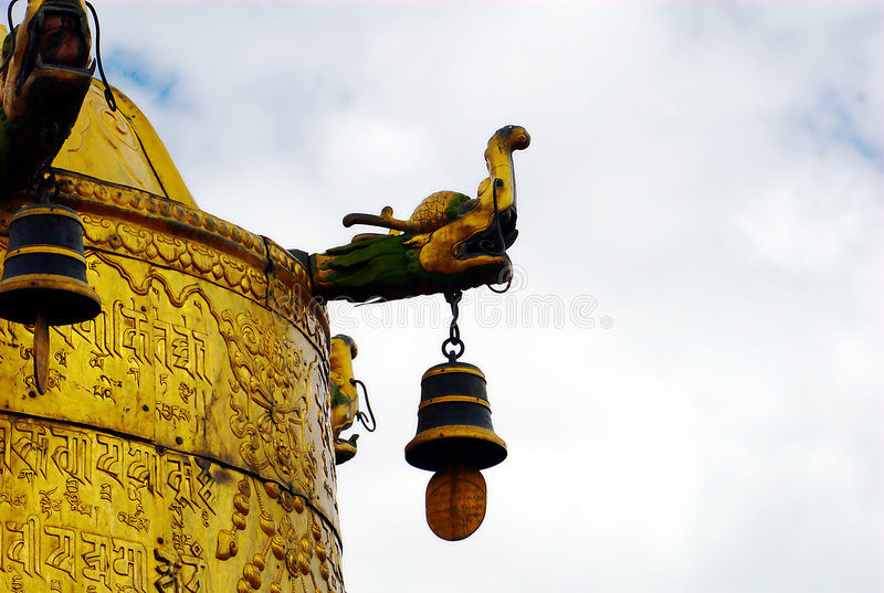 Roof of Jokhang Temple stock image