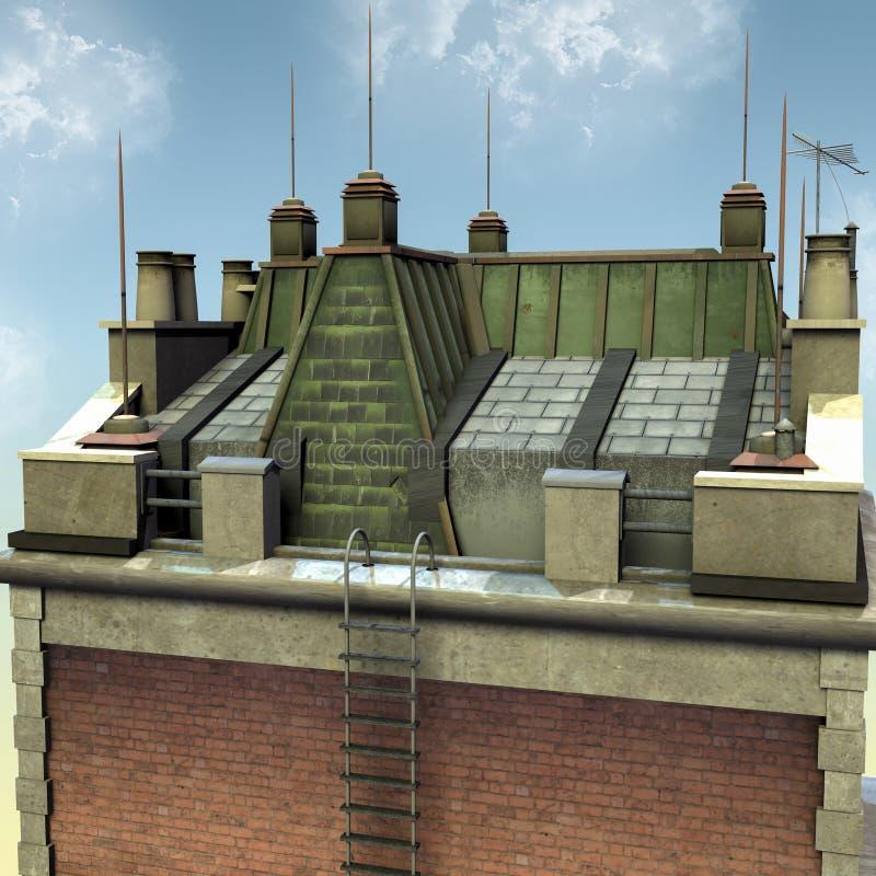 Ladder Roof Stock Illustrations 661 Ladder Roof Stock Illustrations Vectors Clipart Dreamstime